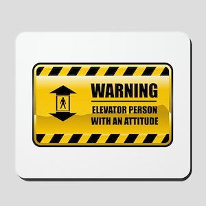 Warning Elevator Person Mousepad