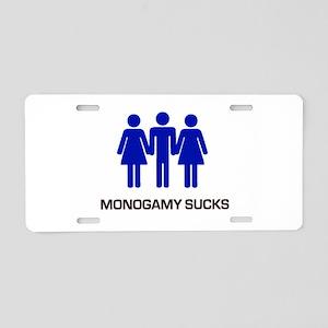 Monogamy Sucks Aluminum License Plate