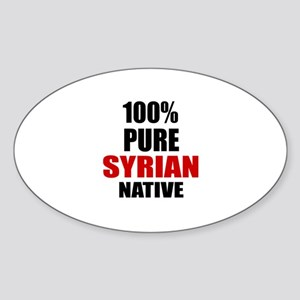100 % Pure Syrian Native Sticker (Oval)