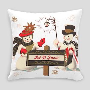 Let it snow snowman Everyday Pillow