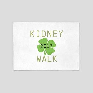 Personalize Kidney Walk 5'x7'Area Rug