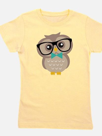 Cute Hipster Owl Girl's Tee