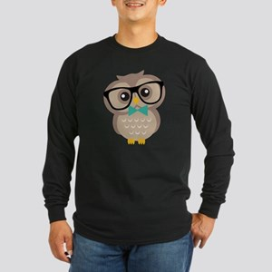 Cute Hipster Owl Long Sleeve T-Shirt