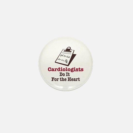 Funny Doctor Cardiologist Cardiology Mini Button