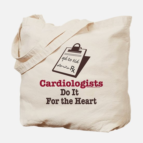 Funny Doctor Cardiologist Cardiology Tote Bag