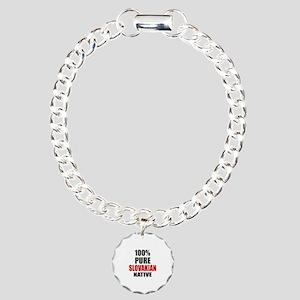 100 % Pure Slovak or Slo Charm Bracelet, One Charm