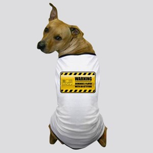 Warning Dominoes Player Dog T-Shirt