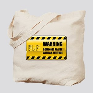 Warning Dominoes Player Tote Bag