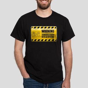 Warning Dominoes Player Dark T-Shirt