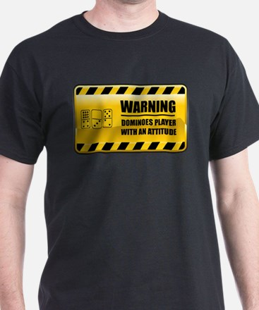 Warning Dominoes Player T-Shirt