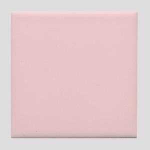 Blush Pink Solid Color Tile Coaster
