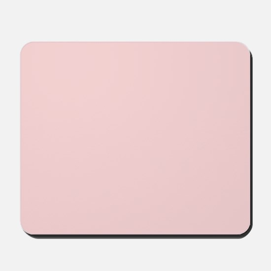 Blush Pink Solid Color Mousepad