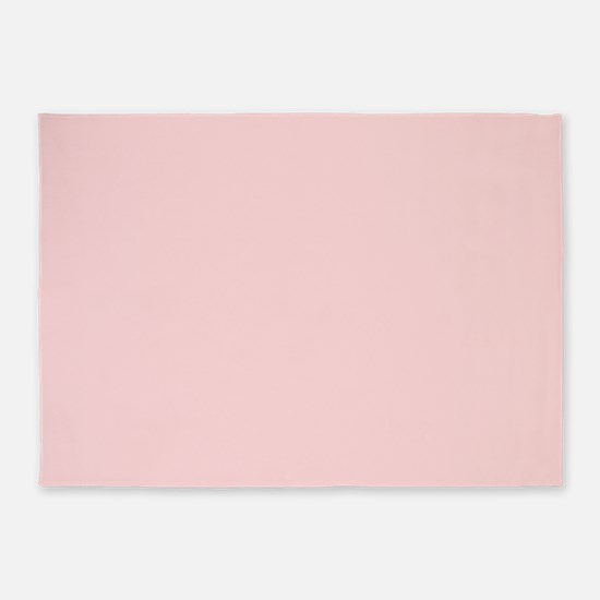 Blush Pink Solid Color 5'x7'Area Rug