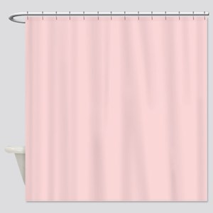 Blush Pink Solid Color Shower Curtain