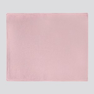 Blush Pink Solid Color Throw Blanket