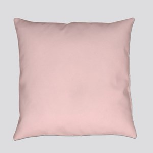 Blush Pink Solid Color Everyday Pillow