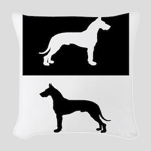 Great Dane Woven Throw Pillow