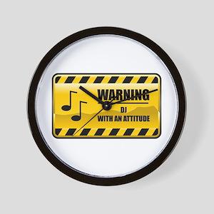 Warning DJ Wall Clock