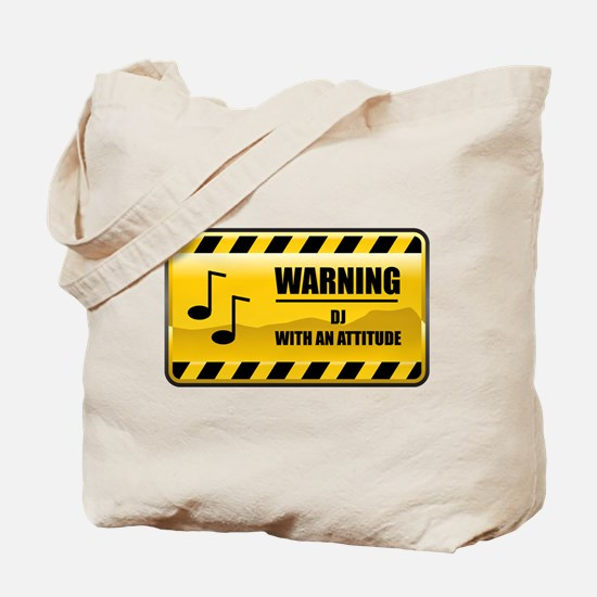 Warning DJ Tote Bag