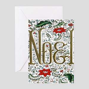 Bohemian Christmas Joyeux Noel Greeting Cards