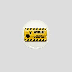 Warning Dietician Mini Button