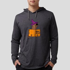 Otter Reading Magician Book Long Sleeve T-Shirt