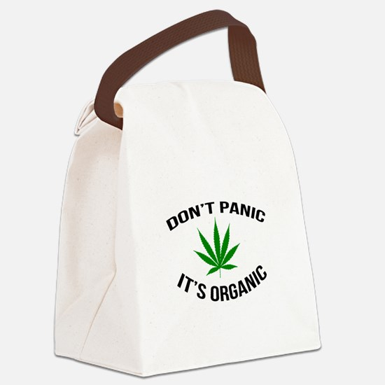 Don't Panic It's Organic Canvas Lunch Bag