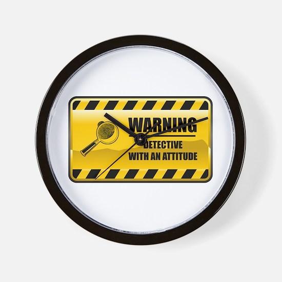 Warning Detective Wall Clock