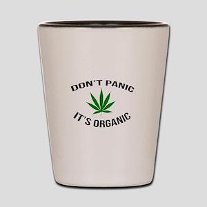 Don't Panic It's Organic Shot Glass