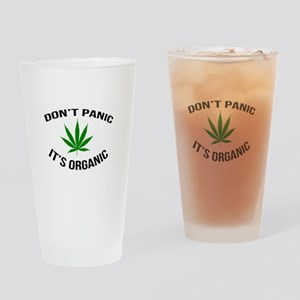 Don't Panic It's Organic Drinking Glass