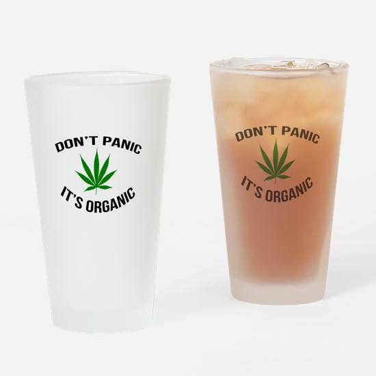 Don't Panic It's Organic Drinking Glass