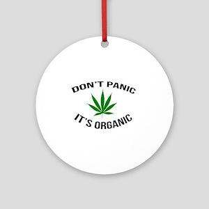 Don't Panic It's Organic Round Ornament