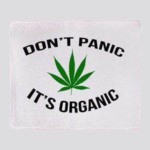 Don't Panic It's Organic Throw Blanket