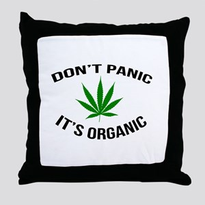 Don't Panic It's Organic Throw Pillow
