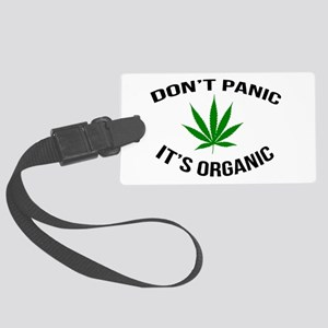 Don't Panic It's Organic Large Luggage Tag