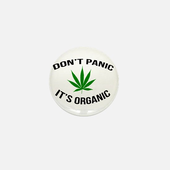 Don't Panic It's Organic Mini Button
