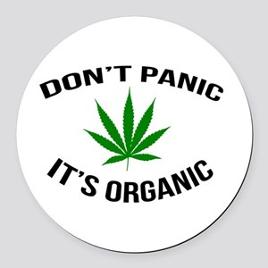 Don't Panic It's Organic Round Car Magnet