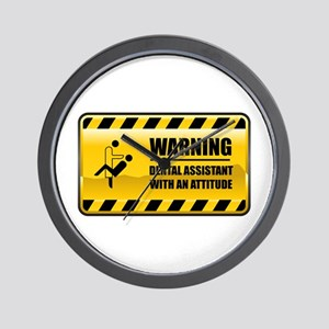 Warning Dental Assistant Wall Clock