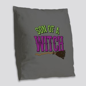 Son of a Witch Burlap Throw Pillow