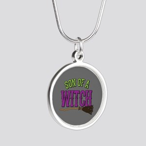 Son of a Witch Silver Round Necklace