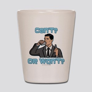 Archer Can't or Won't Shot Glass