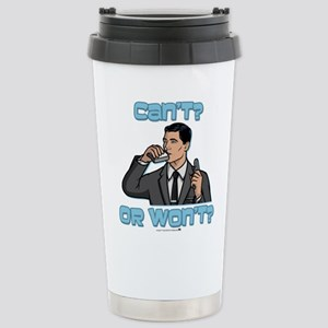 Archer Can't or Won't Stainless Steel Travel Mug