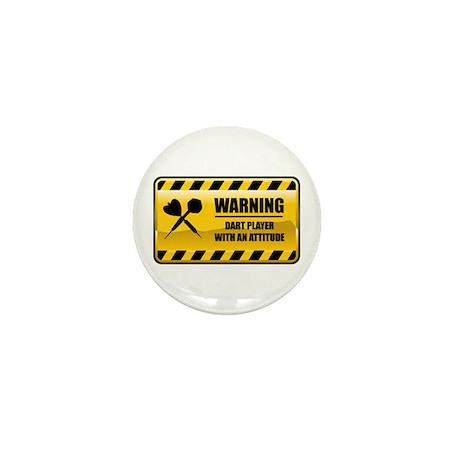 Warning Dart Player Mini Button (100 pack)