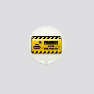 Warning Curler Mini Button