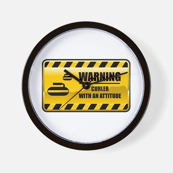 Warning Curler Wall Clock