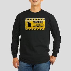 Warning Cruiser Long Sleeve Dark T-Shirt