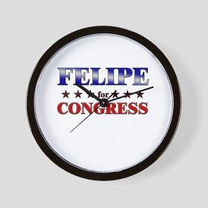 FELIPE for congress Wall Clock