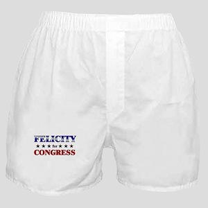 FELICITY for congress Boxer Shorts