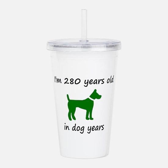 40 Dog Years Green Dog 1C Acrylic Double-wall Tumb