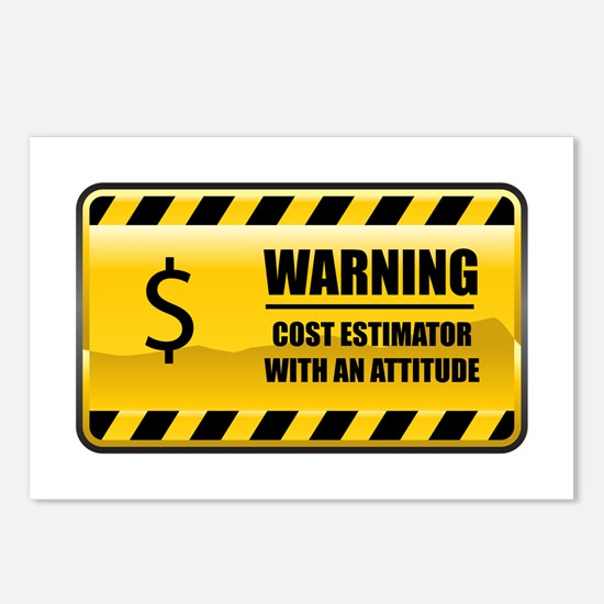 Warning Cost Estimator Postcards (Package of 8)